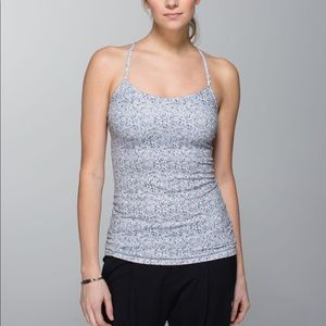 Lululemon Power Y Tank Petite Fleur Silver Spoon